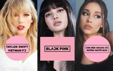 """1 loạt fanpage của Taylor Swift, Lady Gaga và sao US-UK tại Việt Nam đổi avatar đen hồng như trúng """"lời nguyền BLACKPINK"""", chuyện gì đây?"""