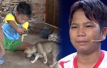 """""""Cậu bé 1 chân"""" rơi nước mắt trên truyền hình: """"Con nhớ nhà, nhớ chó, nhớ xe đạp..."""""""