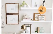 5 loại kệ treo tường cực hợp với nhà chật, toàn kiểu đẹp mắt và thích nhất là cực rẻ