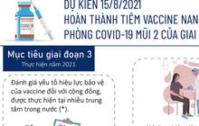[Infographic] Dự kiến 15/8/2021, hoàn thành tiêm vaccine Nano Covax phòng COVID-19 mũi 2 giai đoạn 3