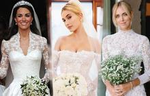 """11 pha diện váy cưới hot nhất hành tinh: """"Bộ loa"""" căng tức của Kim Kardashian liệu có lấn át body vợ Justin Bieber?"""