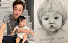 """Bức tranh fan vẽ tặng con gái Cường Đô La bỗng gây sốt cõi mạng, nam đại gia phải đích thân """"mò"""" hẳn Facebook cảm ơn"""