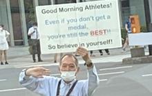 Thông điệp tuyệt vời của ông lão Nhật Bản truyền cảm hứng mạnh mẽ tại Olympic Tokyo 2020