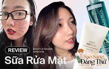 Nàng da dầu mụn, nhạy cảm review 7 loại sữa rửa mặt hiệu quả, giúp cải thiện mụn thấy rõ mà giá đều từ 400k quay đầu