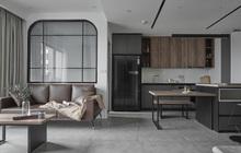 """Vợ chồng trẻ mua căn hộ 76m2, chọn màu bê tông sắc lạnh nhìn """"chất"""" như phim"""