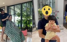 Đàm Thu Trang ra tay cắt tóc cho chồng mùa dịch, kết quả ra sao mà được ông xã và bạn bè đồng loạt chấm điểm 10?