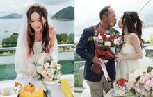 """""""Đát Kỷ"""" Ôn Bích Hà gây xôn xao với hình ảnh mặc váy cưới bốc lửa ở tuổi 55, netizen tranh cãi dữ dội"""