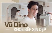 """Vũ Dino khoe căn bếp """"đỉnh của chóp"""" trong penthouse 8 tỷ, đồ bếp siêu tối tân check giá món nào cũng phải trầm trồ"""