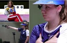 """Nhà vô địch Olympic gây sốt bởi dáng bắn súng cực """"ngầu"""", dân tình nhìn xong lo cô nàng bị gãy tay"""
