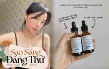 Chủ quan trong việc bảo quản, Hà Trúc phải bỏ tới vài chai serum vitamin C vì hỏng, chị em cũng phải để ý kĩ nhé