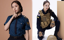 Lên đồ cảnh sát mà vẫn sang chảnh, thần thái ngời ngợi thì chỉ có Krystal, bảo sao netizen khen đến là mỏi miệng