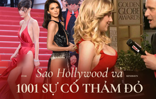 """1001 sự cố """"í ẹ"""" nhất thảm đỏ: """"Góa phụ đen"""" bị MC sờ ngực, Kendall - Emma Watson lộ chỗ nhạy cảm chưa bằng tài tử rơi bao cao su"""