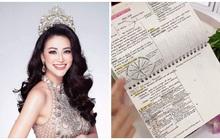 """Hoa hậu Phương Khánh bật mí """"phương pháp sinh tồn"""" thời đi học, tất cả gói gọn trong 1 cuốn sổ"""