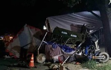 Đi xe ba gác về quê bị xe tải tông, gia đình 5 người thương vong