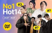 Da LAB chạm mặt nhân tố mới đe dọa vị trí đầu bảng, Sơn Tùng M-TP và Jack lại biến mất khỏi top 3 HOT14 Weekly