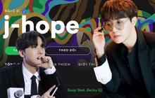 J-Hope (BTS) là idol Hàn Quốc đầu tiên làm được điều này trên nền tảng nghe nhạc lớn nhất thế giới, fan tung hô ầm ầm!