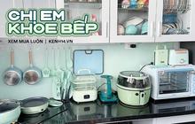 """Căn bếp màu xanh mint quá """"cưng"""": Chủ nhà decor bếp màu này vì hợp mệnh, toàn đồ nội địa Trung rẻ mà xinh"""