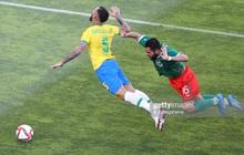 [Trực tiếp Bán kết Olympic] Brazil 0-0 Mexico (HP1): Richarlison đánh đầu dội cột cực đen đủi