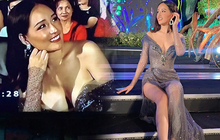 """Phản ứng của Mai Phương Thuý sau 2 năm bị chiếc váy """"hại"""" suýt lộ vòng 1 khủng trên sóng trực tiếp Miss World Việt Nam"""