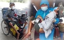 Chàng trai bán vé số đi xe lăn 7 ngày từ TP.HCM về Phú Yên: Xót xa đôi chân teo tóp và thân hình gầy guộc