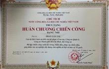 Chủ tịch nước tặng Huân chương Chiến công cho Đại úy Phan Tấn Tài