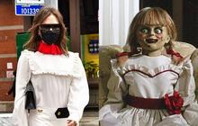 Xúng xính diện váy 46 triệu xuống phố, Victoria Beckham bị nhận nhầm thành... Annabelle di động vì 1 lý do