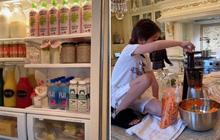 """Rich kid Việt ở Mỹ khoe tủ lạnh mùa dịch và căn bếp """"tiền tỷ"""" khiến dân mạng tròn mắt: """"Có khác gì cái nhà hàng không hả trời?"""""""
