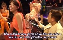 """Trường Giang """"bóc"""" độ giàu có của Hari Won: Toàn xài tiền chồng, hở tí là mua nhà, sắm đất"""
