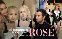"""Rosé (BLACKPINK) hóa """"Bộ trưởng Bộ Ngoại giao"""" ở Met Gala: Hết đọ sắc với Gigi Hadid, Olivia lại đến tíu tít với cả Rihanna"""