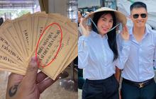 Netizen lại tranh cãi chuyện Thuỷ Tiên bỏ quên mạnh thường quân, phiếu nhận quà của bà con miền Trung chỉ ghi tên nữ ca sĩ?