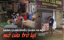 Hà Nội trong ngày đầu được bán đồ ăn mang về: Người dân bắt đầu xếp hàng chờ mua, nhiều hàng quán vẫn chưa có dấu hiệu mở cửa