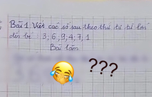 """Cô giáo yêu cầu viết các số từ LỚN đến BÉ, đáp án cậu nhóc đưa ra khiến giáo viên """"cạn lời"""", khen ngợi """"thông minh"""" quá"""