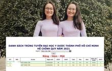 Đỉnh cao: Cặp chị em sinh đôi thay nhau xếp đầu danh sách trúng tuyển ngành hot nhất nhì trường Y, chênh nhau đúng 0,1 điểm