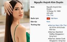 Vướng lùm xùm học vấn, Á hậu Kim Duyên lập tức bị thay đổi thông tin trên Wikipedia, nội dung lại cực kỳ trớ trêu!