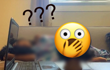 Nữ sinh học online và cái đầu kinh dị nằm ở trước máy tính khiến dân mạng há hốc miệng