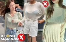 Áo len mỏng dẫu có trendy đến mấy mà mặc theo cách này thì cũng thành thảm họa thời trang chị em nhé!