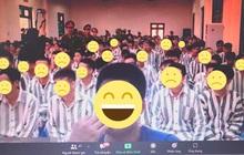 Học sinh đùa quá trớn, đổi phông nền lớp học online thành ảnh trại giam và tù nhân: Phản cảm chứ không hài hước!