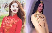 """Sao ngoại mặc áo dài: Bắt vội T-ara và Angela Baby làm dâu Việt, ngoài pha mặc áo dài """"quên quần"""" còn một mỹ nữ gây sốc với hành động """"giang hồ"""""""