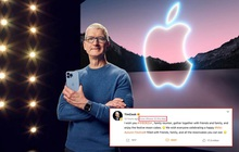 """Tim Cook đăng bài chúc mừng Trung thu, nhưng vô tình để lộ dòng iPhone cũ đang dùng khiến netizen được dịp tha hồ """"cà khịa"""""""