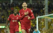 """Hàng thủ tuyển Việt Nam chú ý, """"sát thủ"""" Nhật Bản vừa toả sáng giúp Liverpool thắng đậm"""