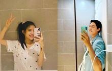 """Tối Trung thu LyLy khoe mặt mộc trong phòng tắm, netizen lại soi thêm """"hint"""" chung tổ ấm với Anh Tú?"""