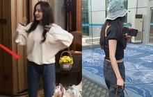 Dương Mịch rất ít khi mặc quần dài dù sở hữu vóc dáng cực chuẩn, chỉ cần nhìn 2 bức ảnh sẽ rõ khuyết điểm body ít ai nhận ra