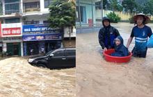 Quảng Ninh: Mưa lớn bất ngờ khiến nhiều tuyến đường ngập úng nghiêm trọng, phụ huynh phải dùng chậu đón con đi học về