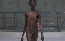 Choáng với người mẫu khoả thân trên sàn diễn tại London Fashion Week