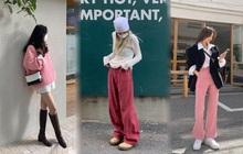 Gái Hàn cao tay thật: Mặc màu hồng mà không bị sến, vẫn chanh sả, thời thượng đâu ra đấy