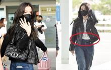 Jisoo (BLACKPINK) xinh ngất ngây tại sân bay sang Pháp dự sự kiện, nhưng sao nhìn bụng lại nặng nề thế này?