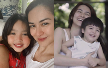 """Mỹ nhân đẹp nhất Philippines khoe 2 """"báu vật"""" cực phẩm: Con gái xinh như thiên thần nhưng mê nhất là nụ cười quý tử 2 tuổi"""