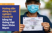 INFOGRAPHIC: Hướng dẫn đăng ký xét nghiệm Covid-19 bằng hệ thống Việt Nam Khỏe Mạnh