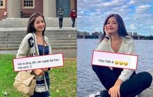 """Chi Pu bảo sang Mỹ du học nhưng học gì không nói, netizen gửi lời chúc: """"Học thanh nhạc nha, hội trưởng đội văn nghệ Đại học Harvard"""""""