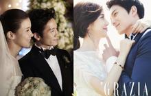 """""""Mợ út tài phiệt"""" Lee Bo Young và tài tử Ji Sung kỷ niệm 8 năm kết hôn, bộ ảnh cưới thế kỷ và tin đồn """"tiểu tam"""" bỗng hot trở lại"""